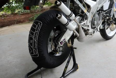 Tyre Warmers, Superbike, Black